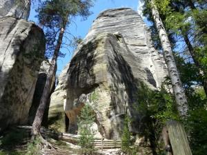 de rotsen van Adrspach
