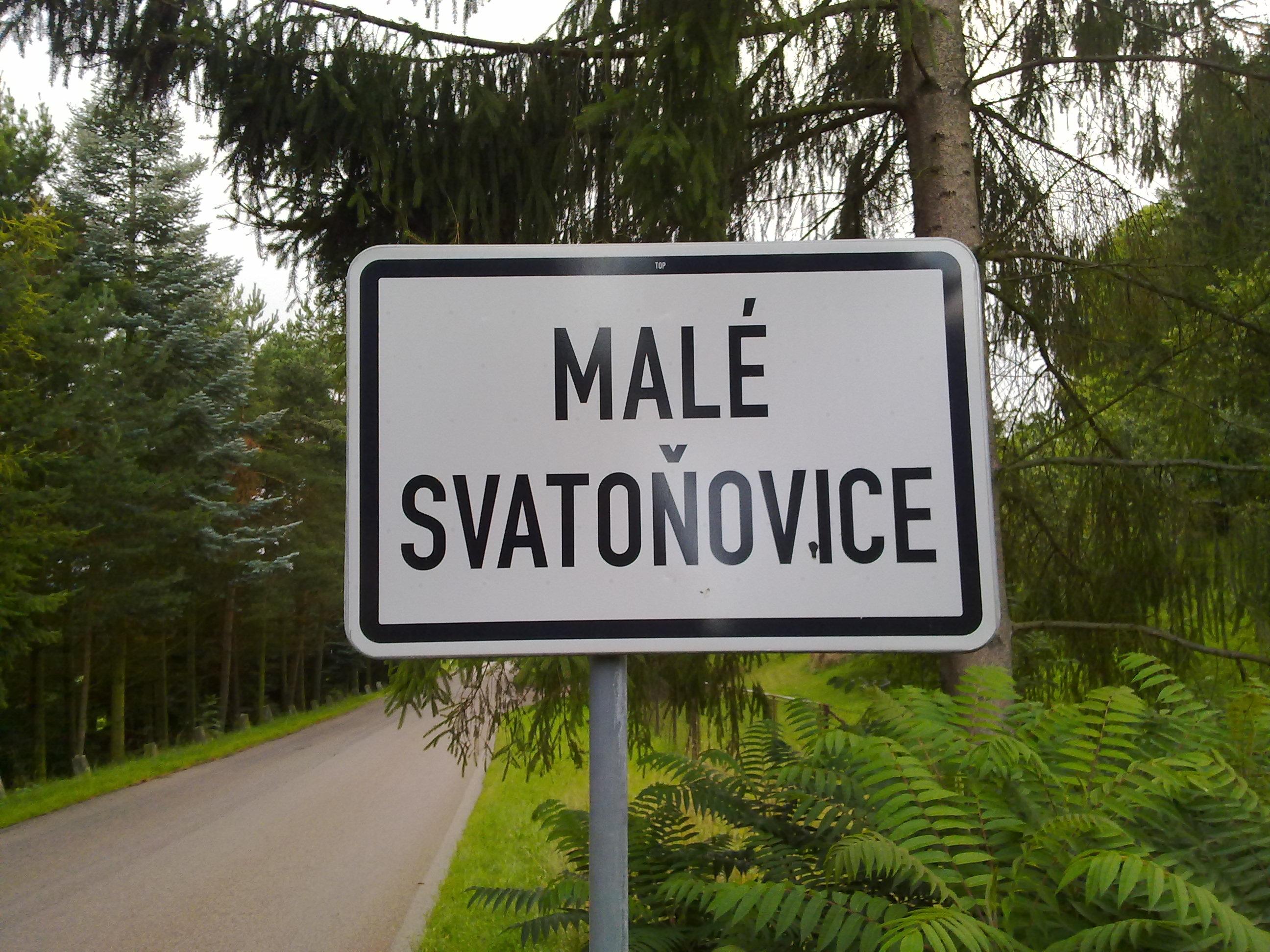 het dorp Male Svatonovice