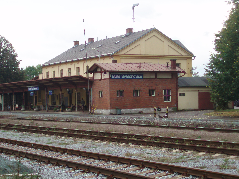 het treinstation van Male Svatonovice
